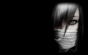 Black-White-Girls-With-Mask-Wallpapers-